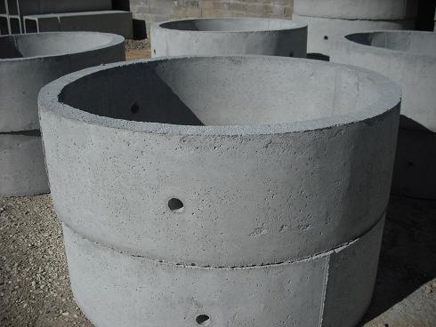 anillas prefabricadas para el entubado de pozo